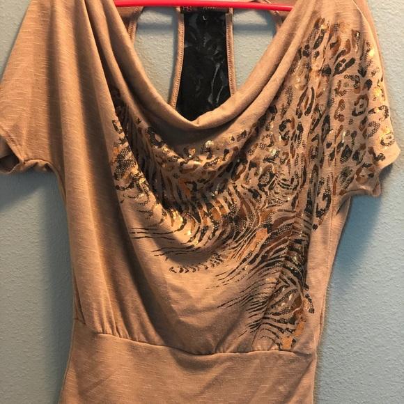 f28fe53c2cbbe8 HeartSoul Tops - Heart Soul  Cheetah Design Blouse